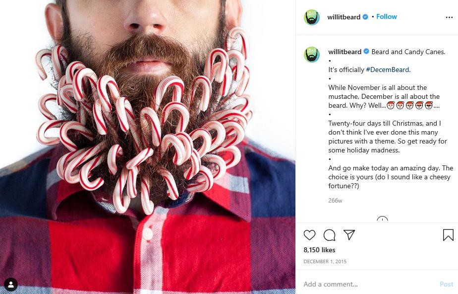 man in beard and lollipops